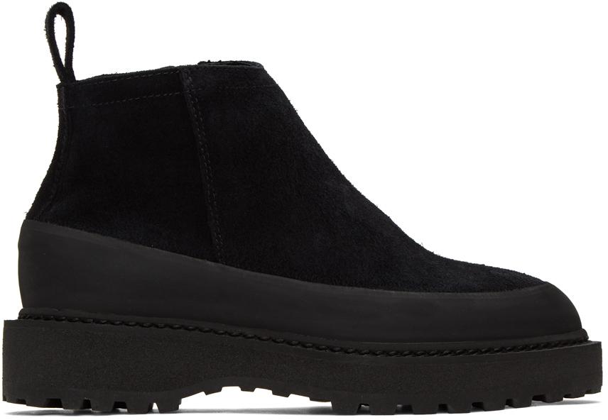 Diemme 黑色 Paderno 绒面革踝靴