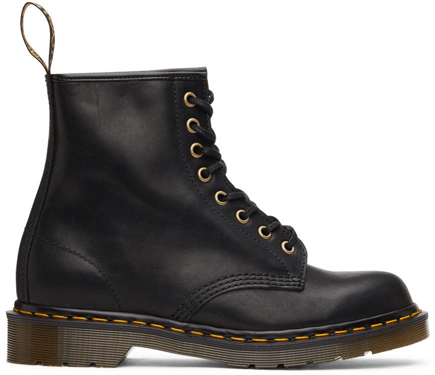 Dr. Martens 黑色 1460 英产踝靴