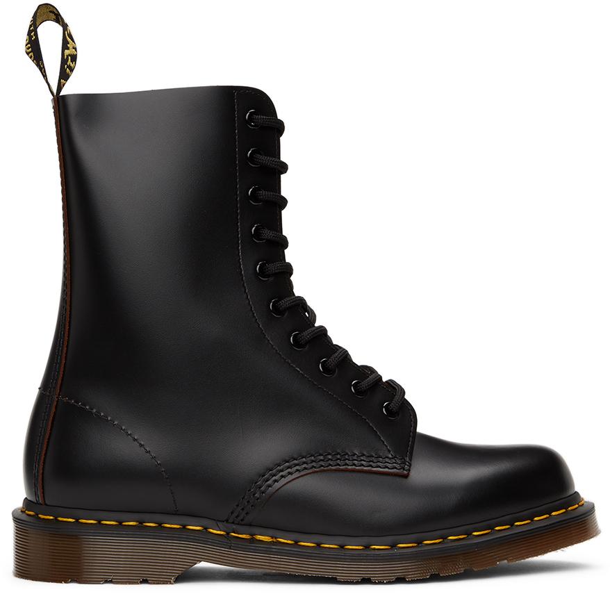 Dr. Martens 黑色 1490 Vintage 英产中筒靴