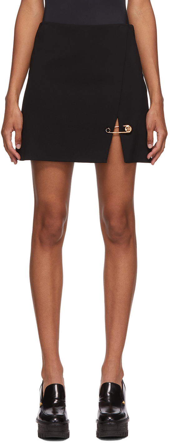Versace 黑色 Pin 短裙