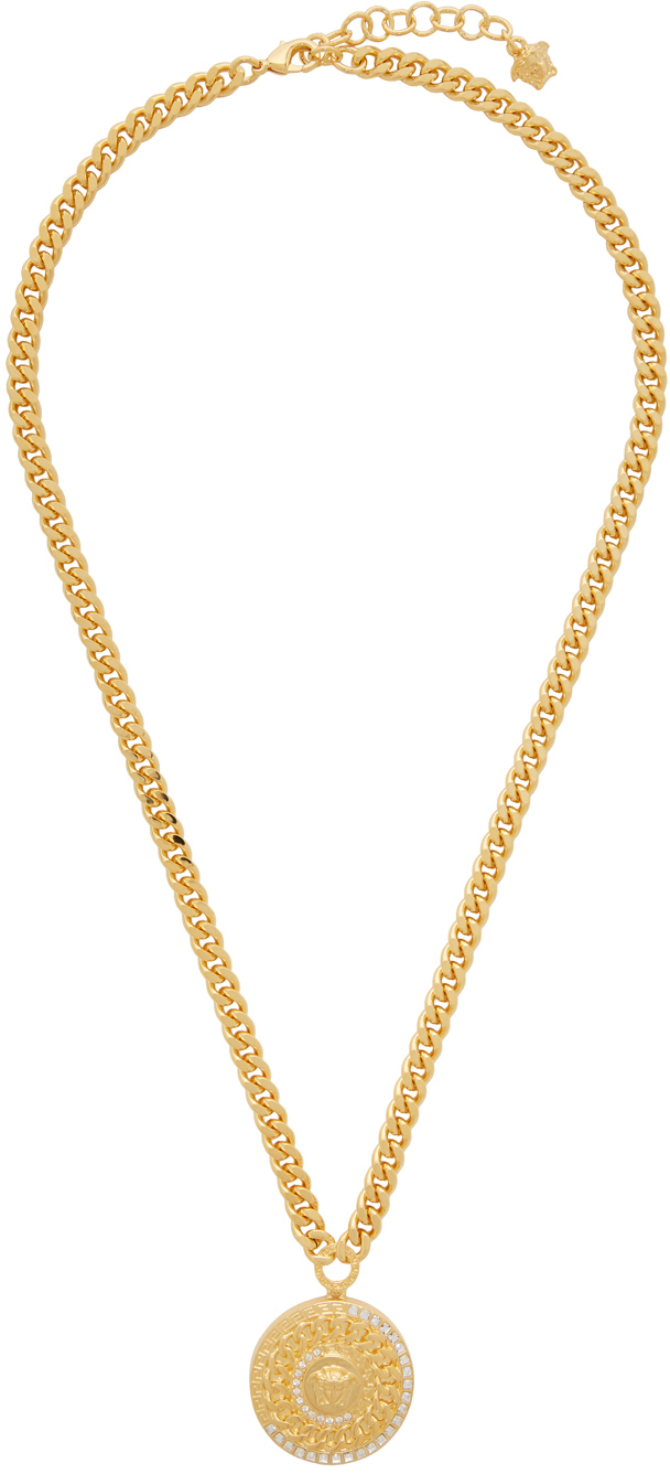 Gold Cuban Link Medusa Necklace by