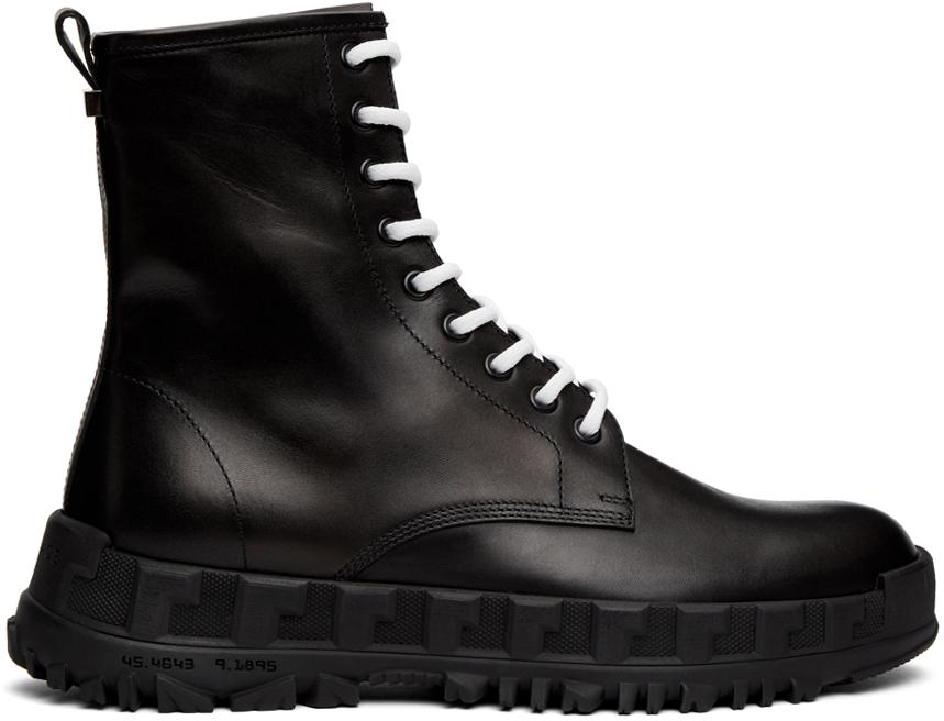 Versace 黑色军风踝靴