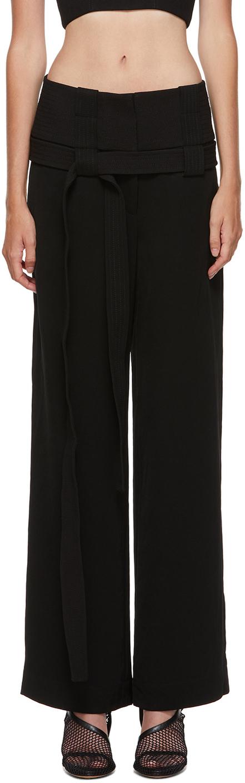 Black Interchange Belted Trousers