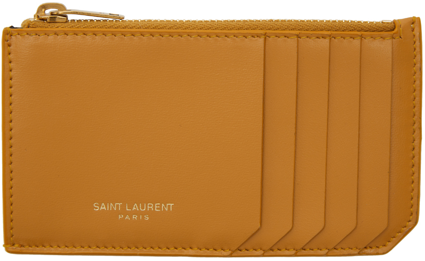 Yellow Fragments Zipped Card Holder