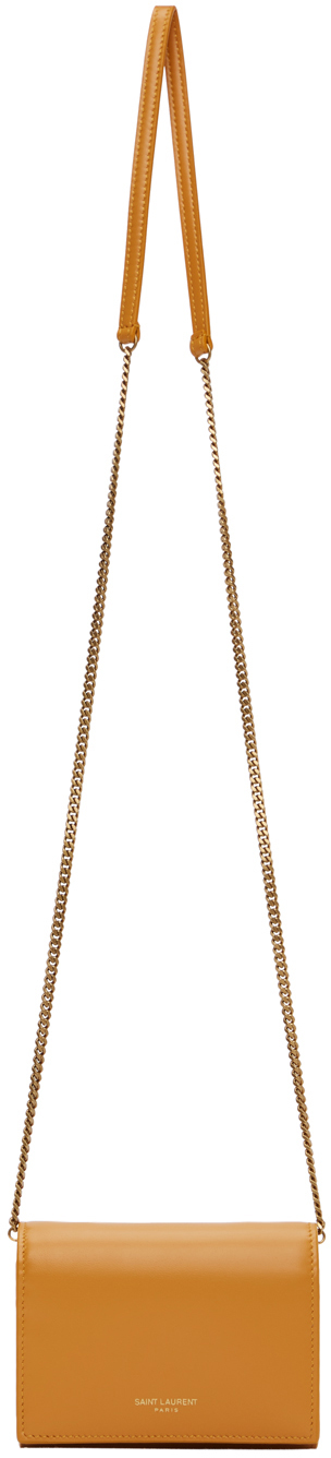 Yellow Square Chain Wallet Bag