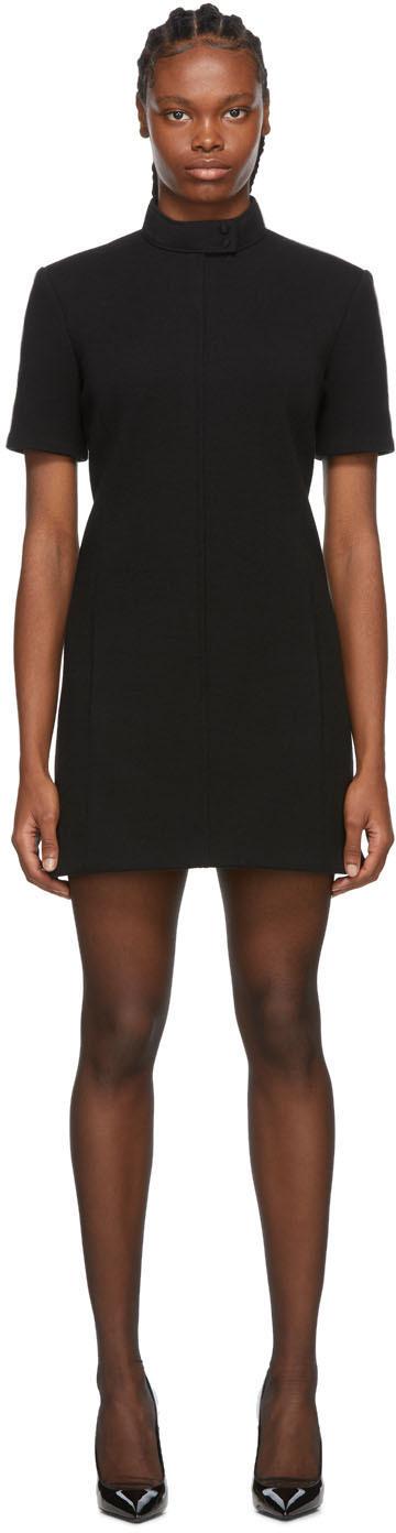 Saint Laurent 黑色小高领连衣裙