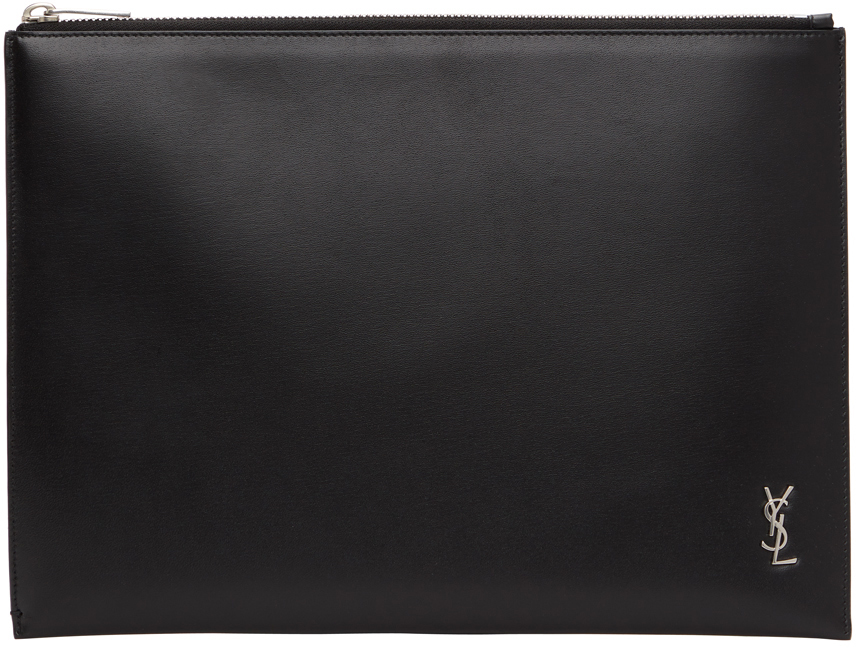 Black & Silver Tiny Monogram Tablet Pouch