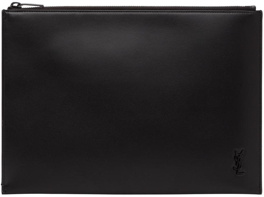 Black Tiny Monogram Tablet Pouch