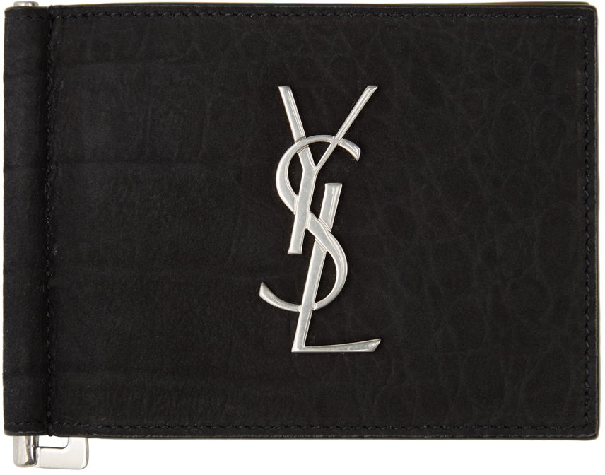 Saint Laurent 黑色 Monogram 钞票夹钱包