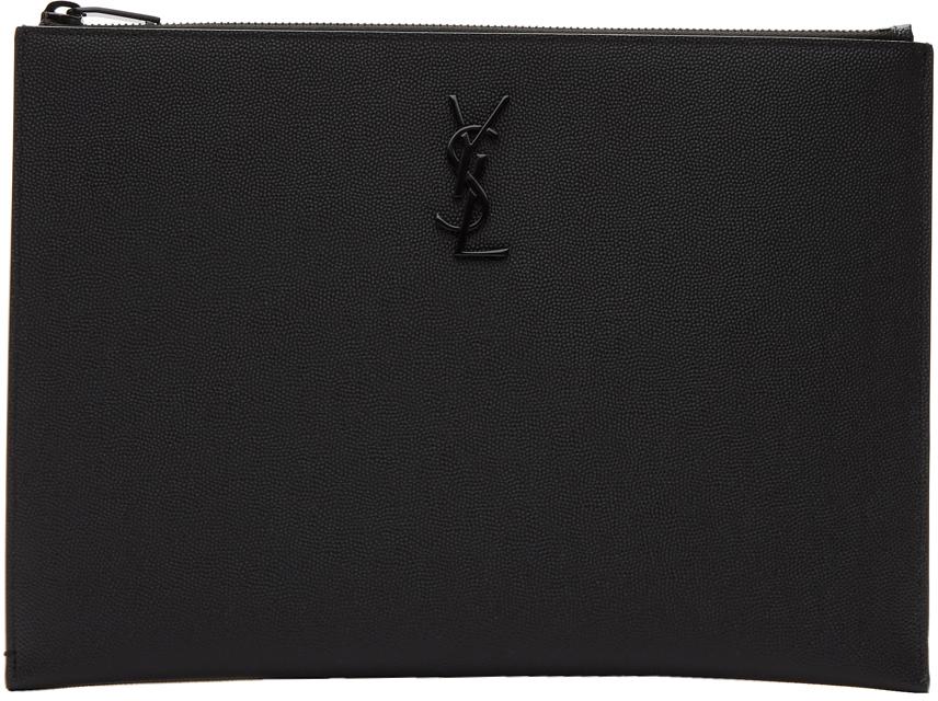 Black Monogramme Tablet Holder Pouch