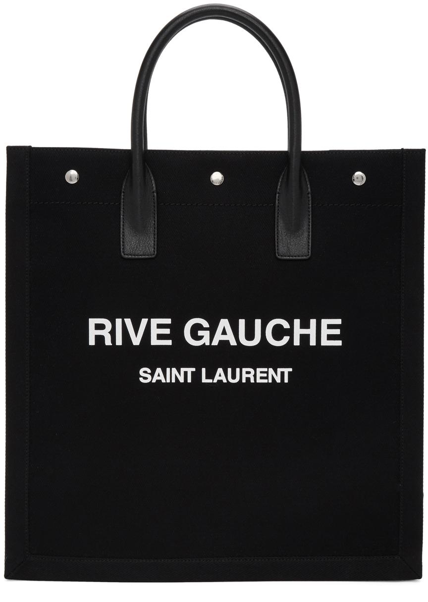 Black & White 'Rive Gauche' Shopping Tote