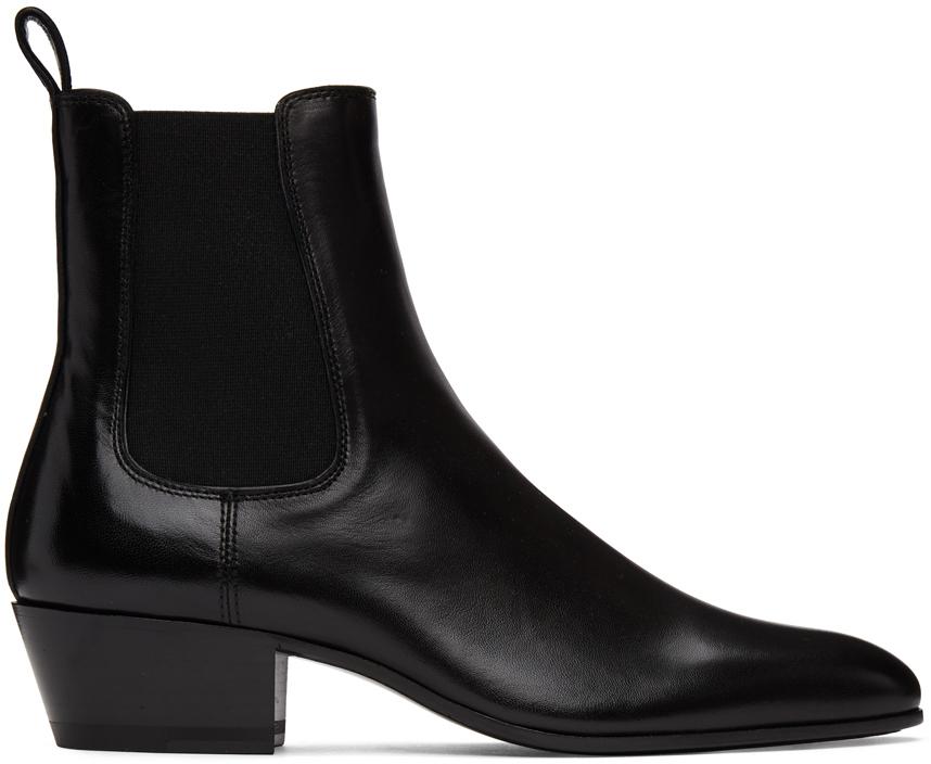Saint Laurent 黑色 Cole 切尔西靴