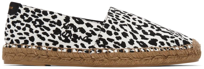 Black & White Leopard Espadrilles