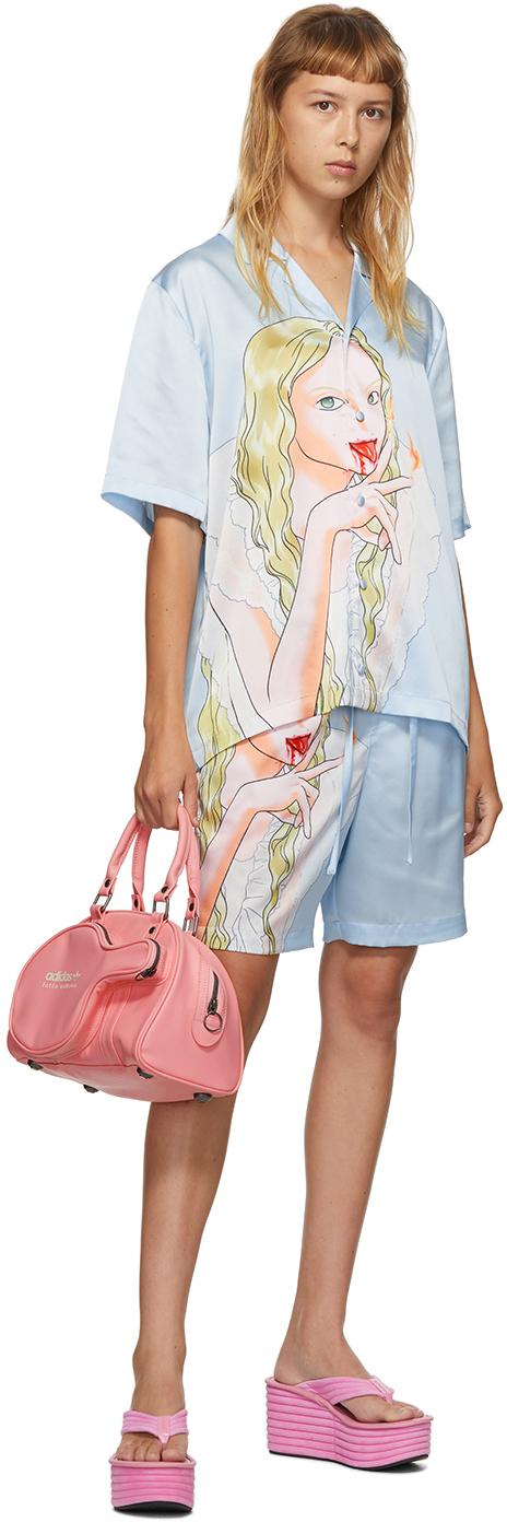 SSENSE Exclusive Blue Graphic Shirt & Shorts Set