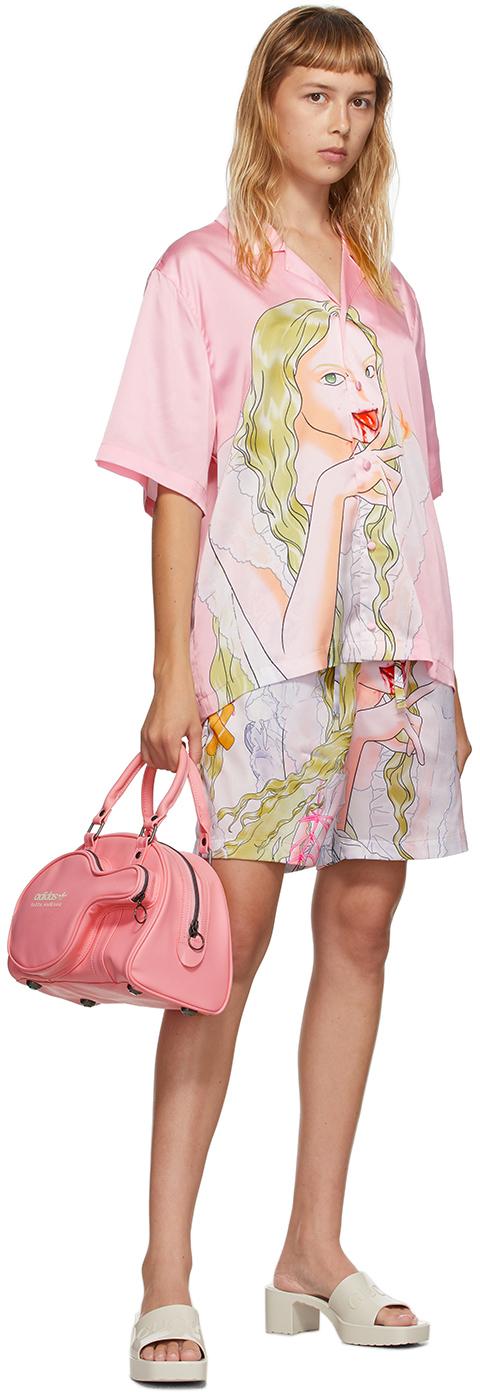SSENSE Exclusive Pink Graphic Shirt & Shorts Set