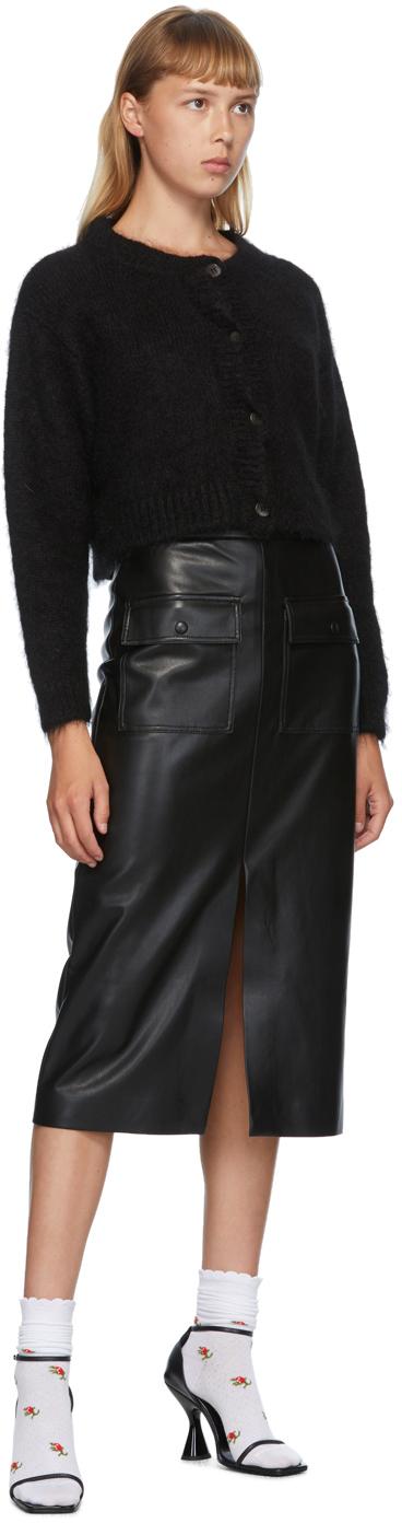 MSGM フェイクレザー ポケット スカート
