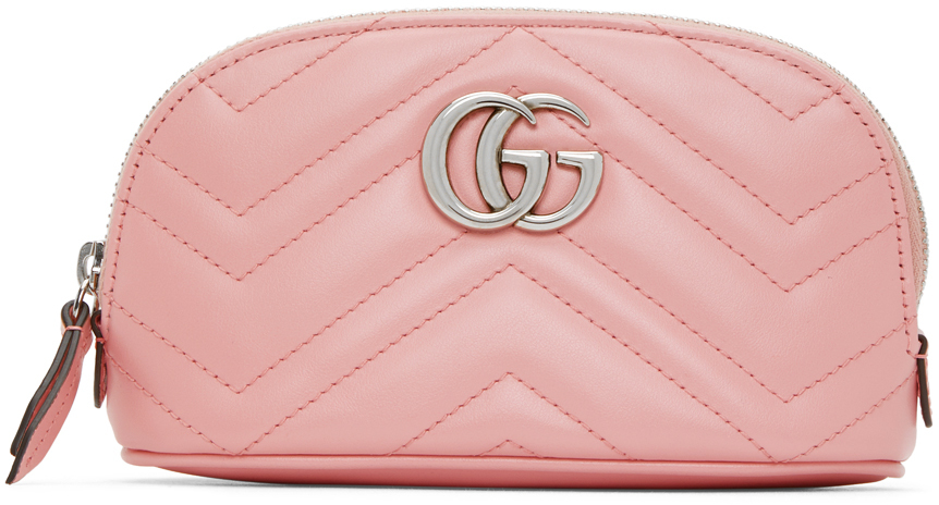 Pink Small GG Marmont 2.0 Cosmetic Pouch
