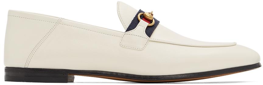 Gucci 白色 Brixton 乐福鞋