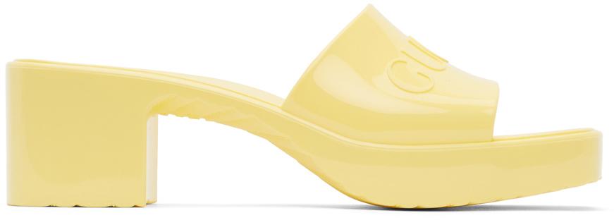 Gucci 黄色橡胶凉鞋