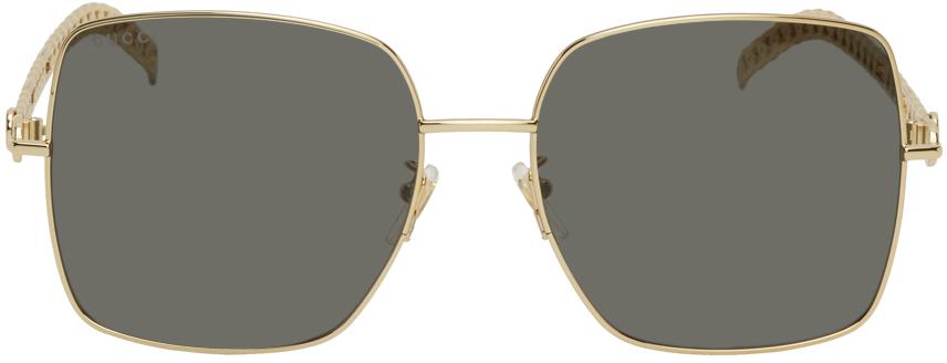 Gold & Black Runway Chains Sunglasses
