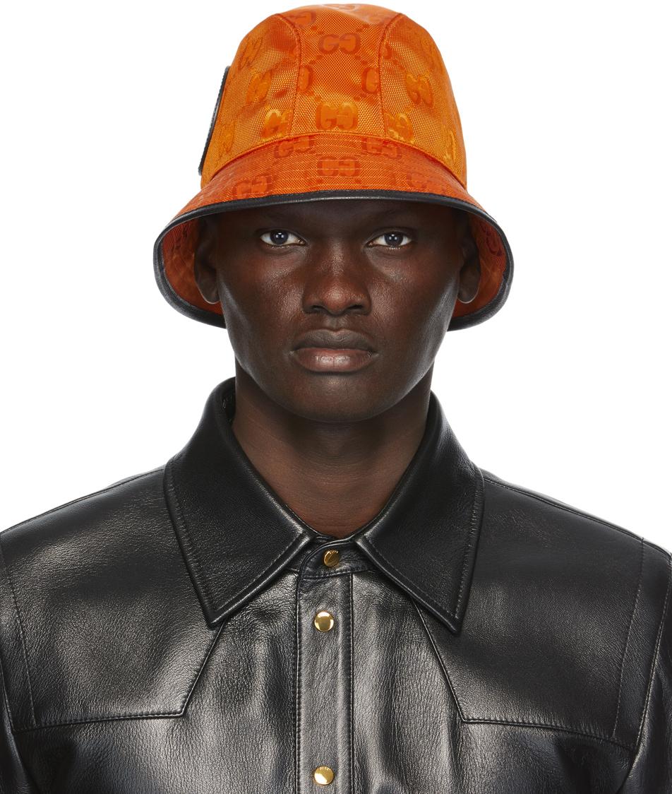 Gucci 橙色 Off The Grid GG Supreme 渔夫帽