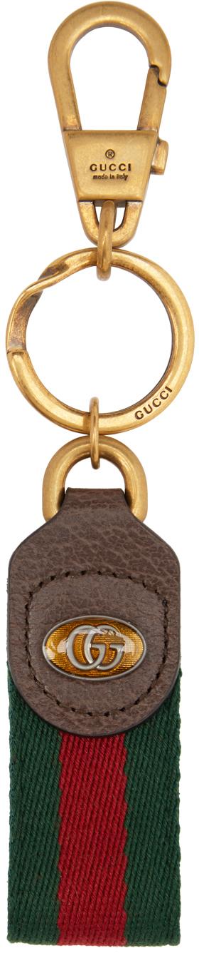 Gucci 绿色 & 红色 Ophidia 钥匙扣