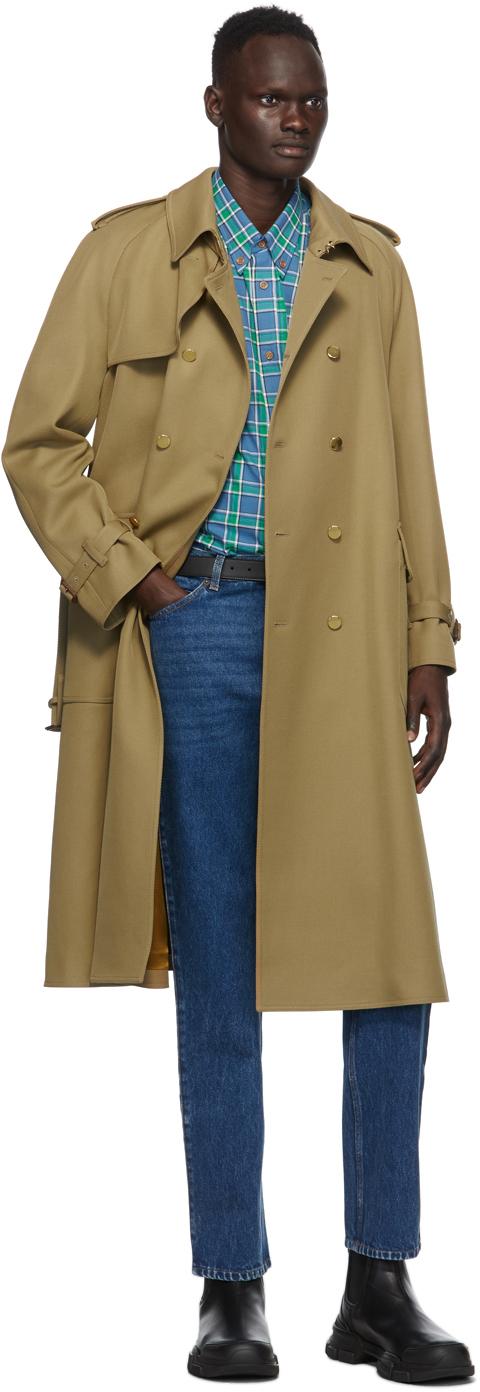 Gucci タン ウール トレンチ コート