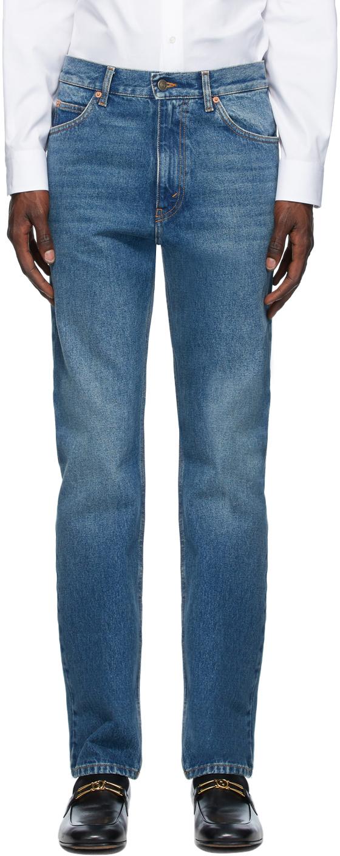 Gucci 蓝色 Wash Regular Fit 牛仔裤
