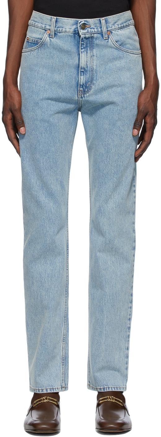 Gucci 蓝色 Stone Bleach Regular Fit 牛仔裤