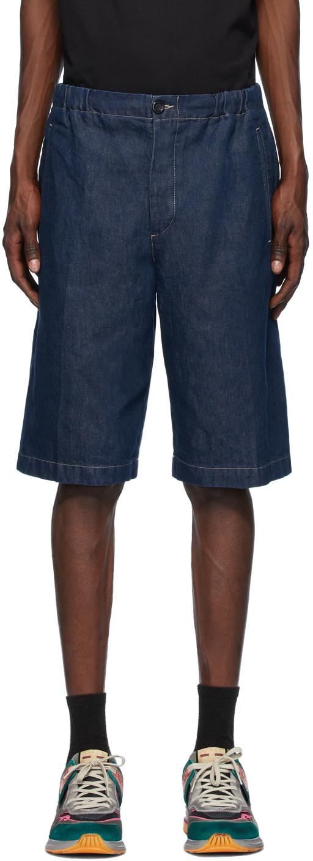 Gucci 蓝色石洗牛仔短裤