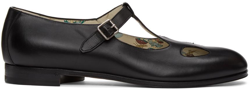Gucci 黑色 Cut-Out 玛丽珍鞋