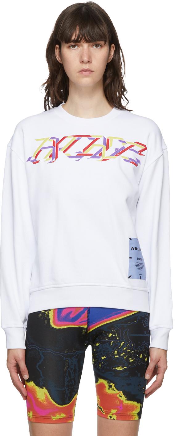 White Arcade Embroidered Sweatshirt