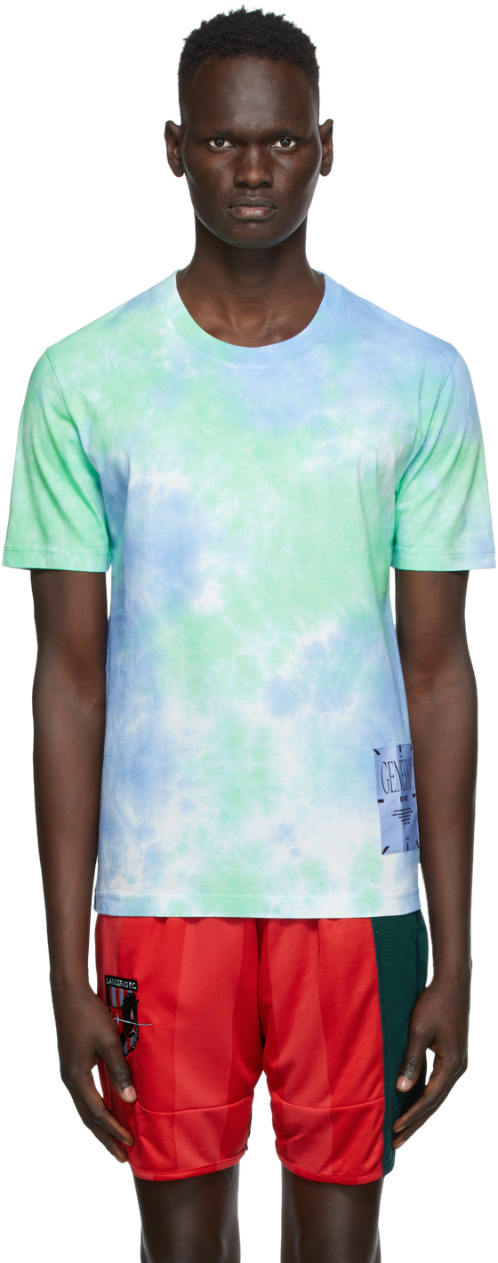 Blue & Green Tie-Dye T-Shirt
