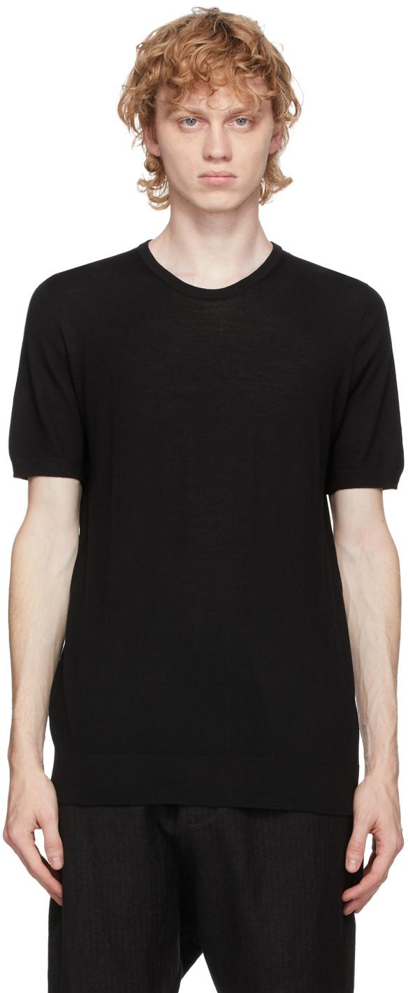 3MAN Black Wool T Shirt 202466M213007