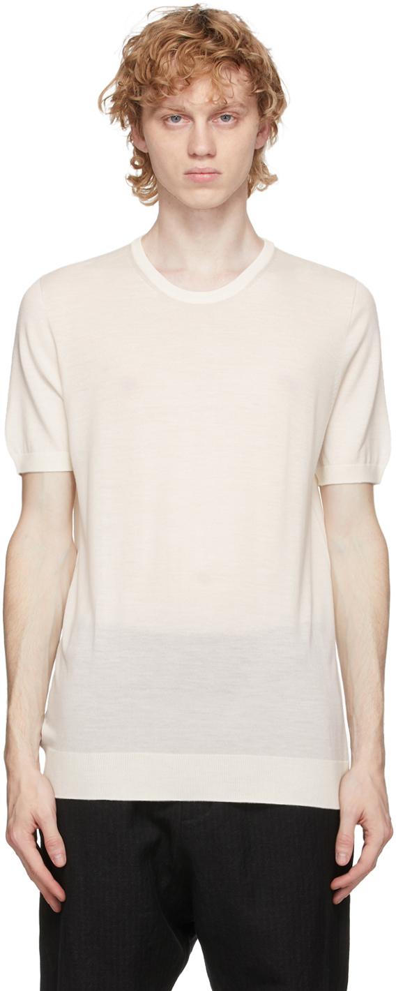 3MAN Off White Wool T Shirt 202466M213008