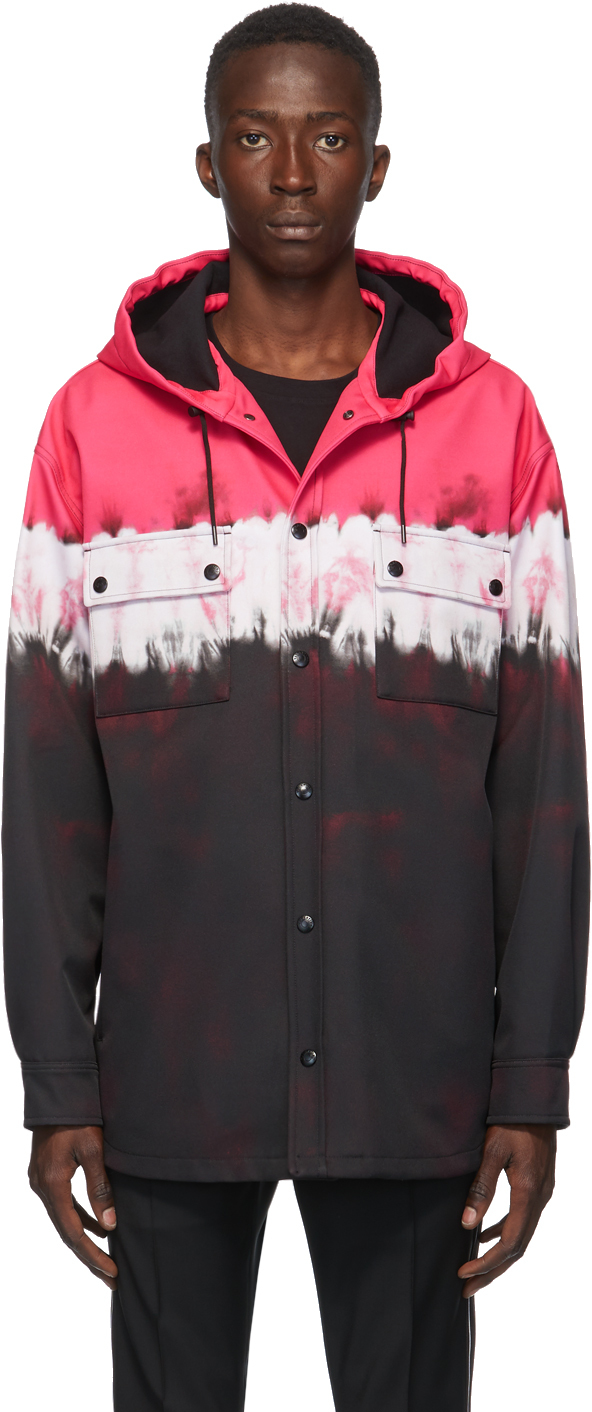 Valentino 黑色 & 粉色扎染夹克