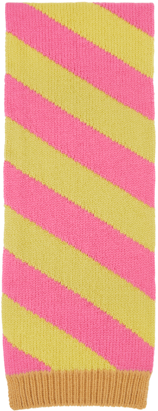 Yellow & Pink Striped Scarf