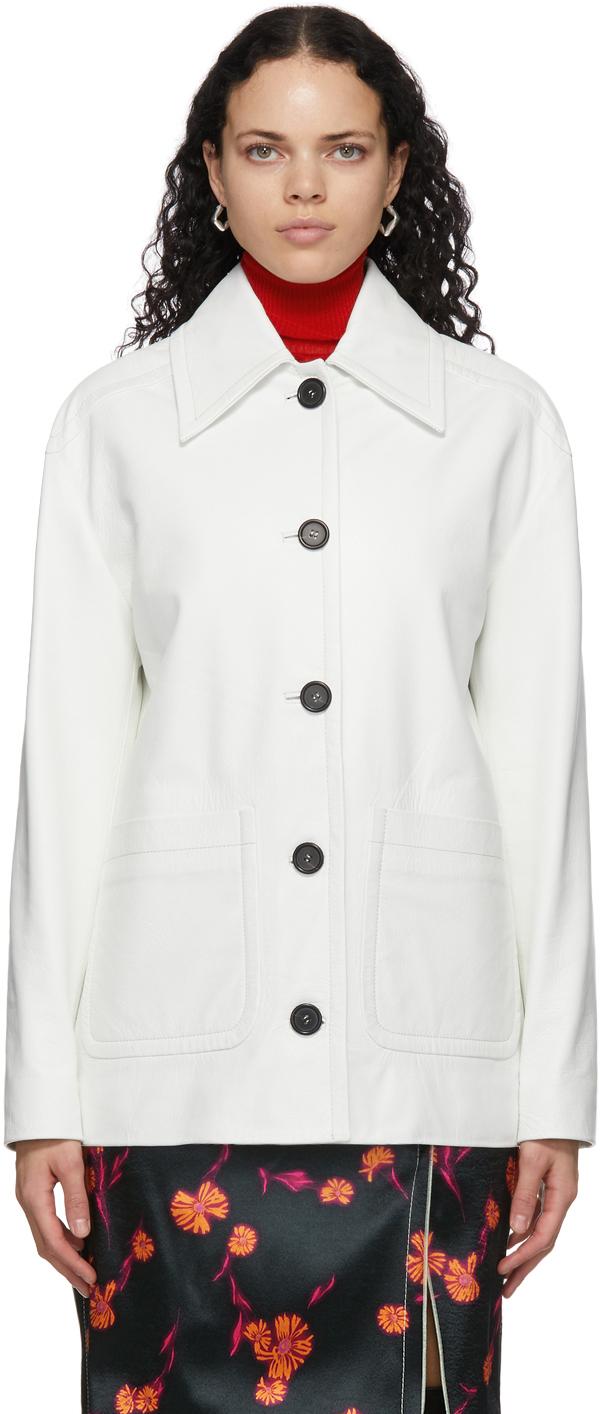 White Leather Vintage Jacket