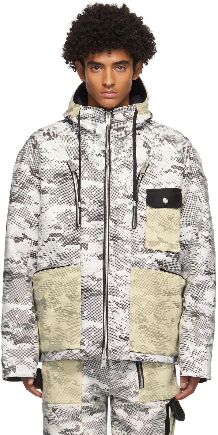 ADYAR SSENSE Exclusive Black & White Camo Shell Jacket