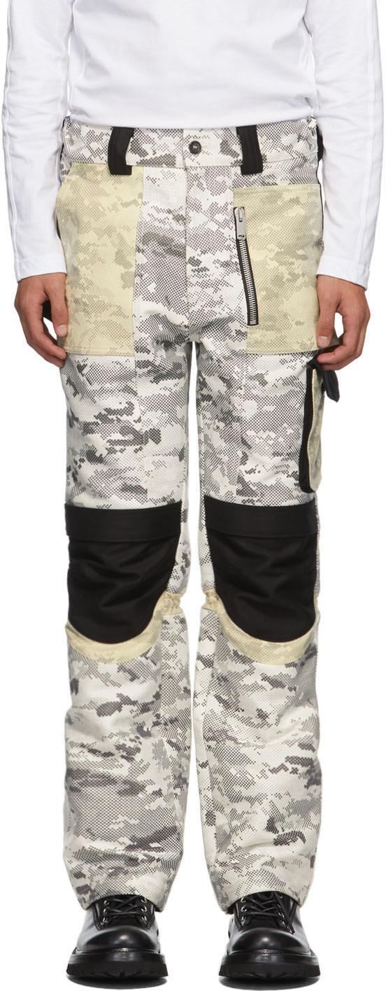 ADYAR SSENSE Exclusive Black & White Utility Cargo Pants