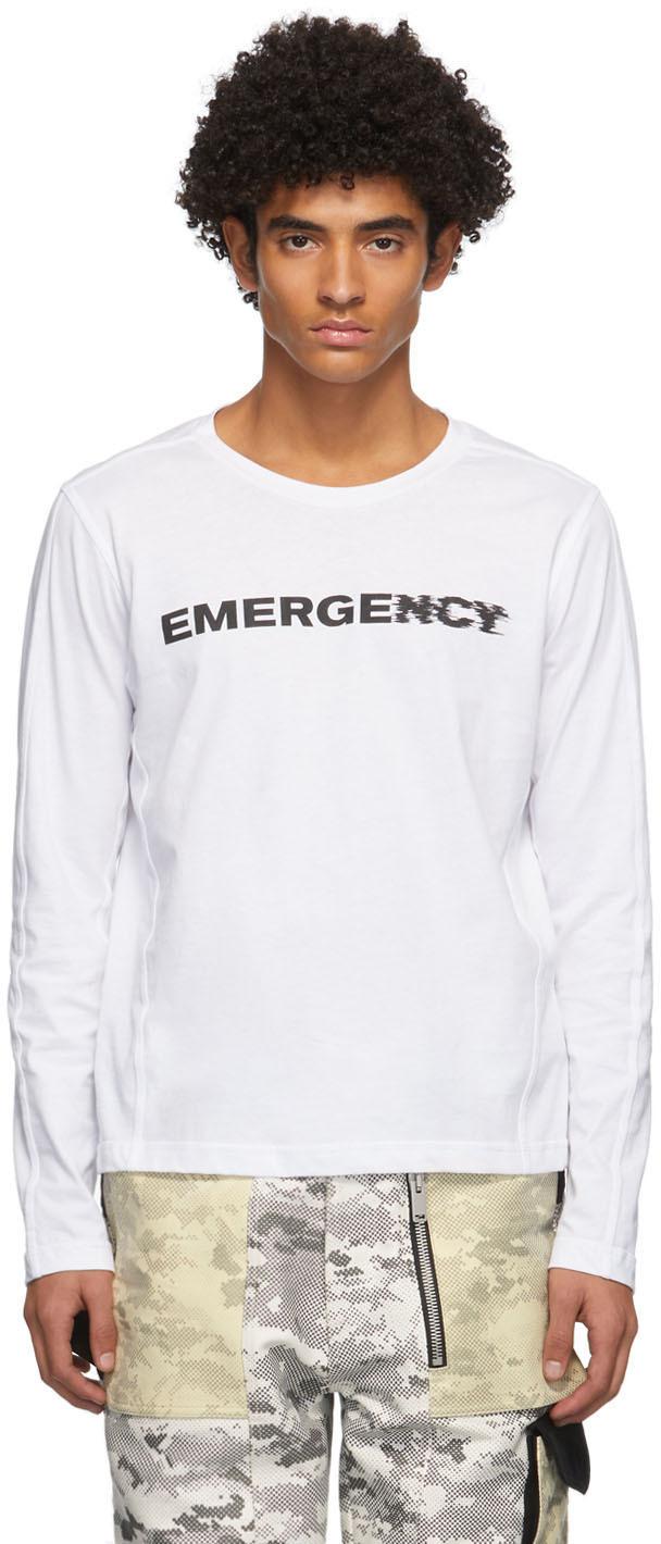 SSENSE Exclusive White Logo Long Sleeve T-Shirt