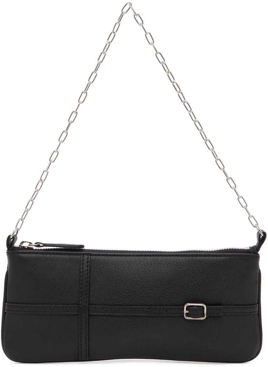 Black Belt Baguette Bag