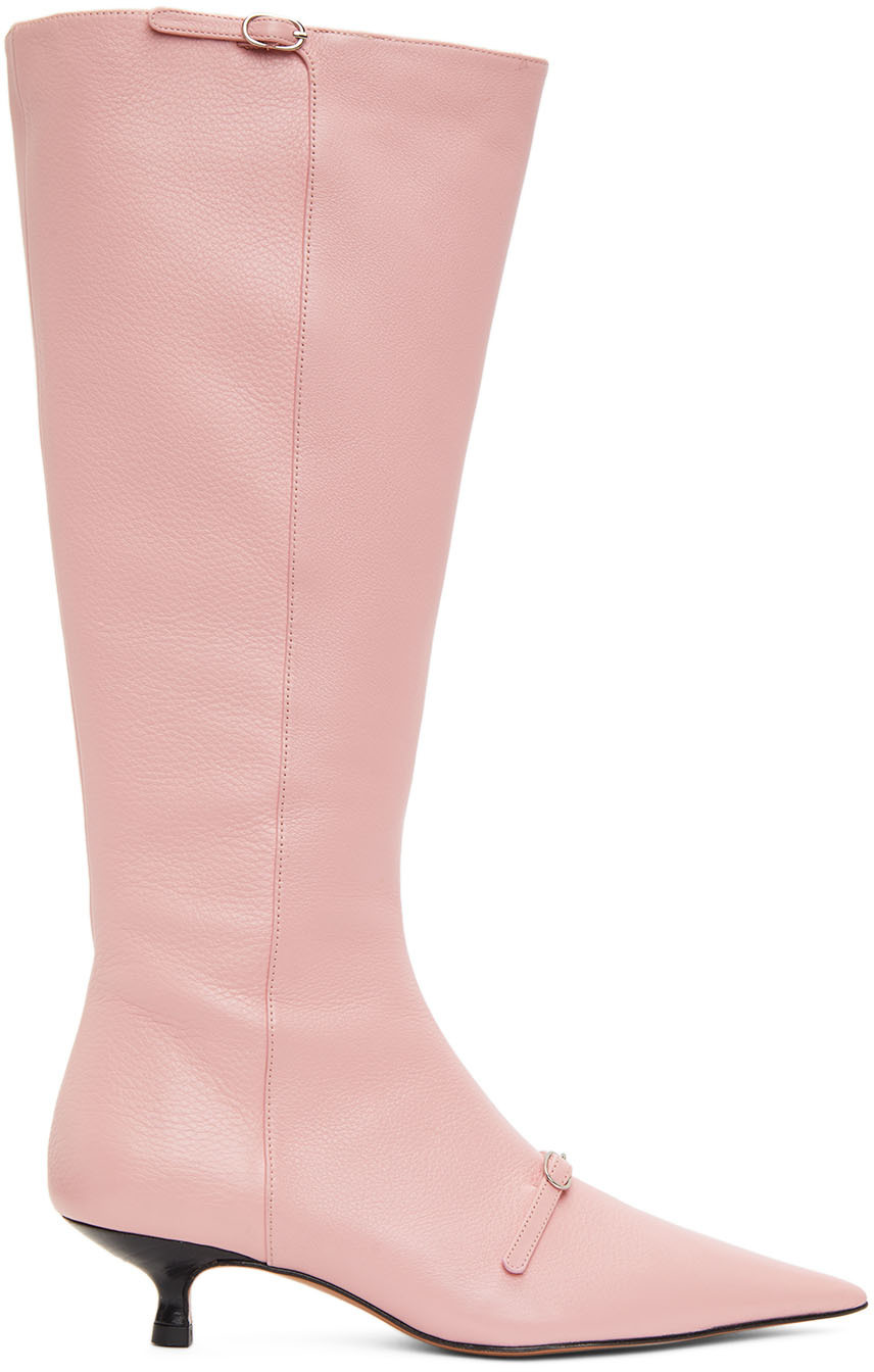 Abra SSENSE Exclusive Pink Flare Boot 202526F115008