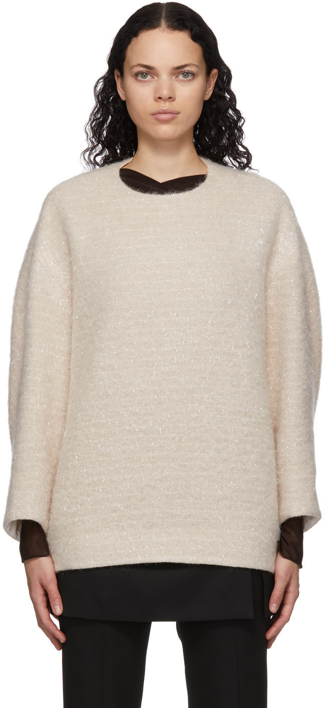 Off-White Wool Oversized Sweater