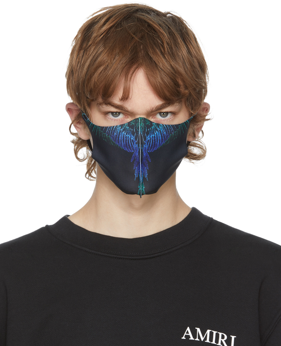 Three-Pack Black Active Face Masks