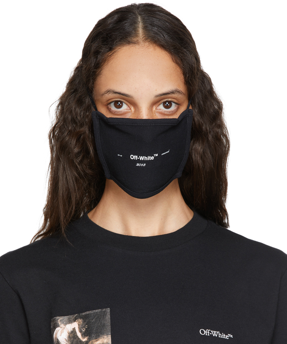 Off-White 黑色徽标口罩