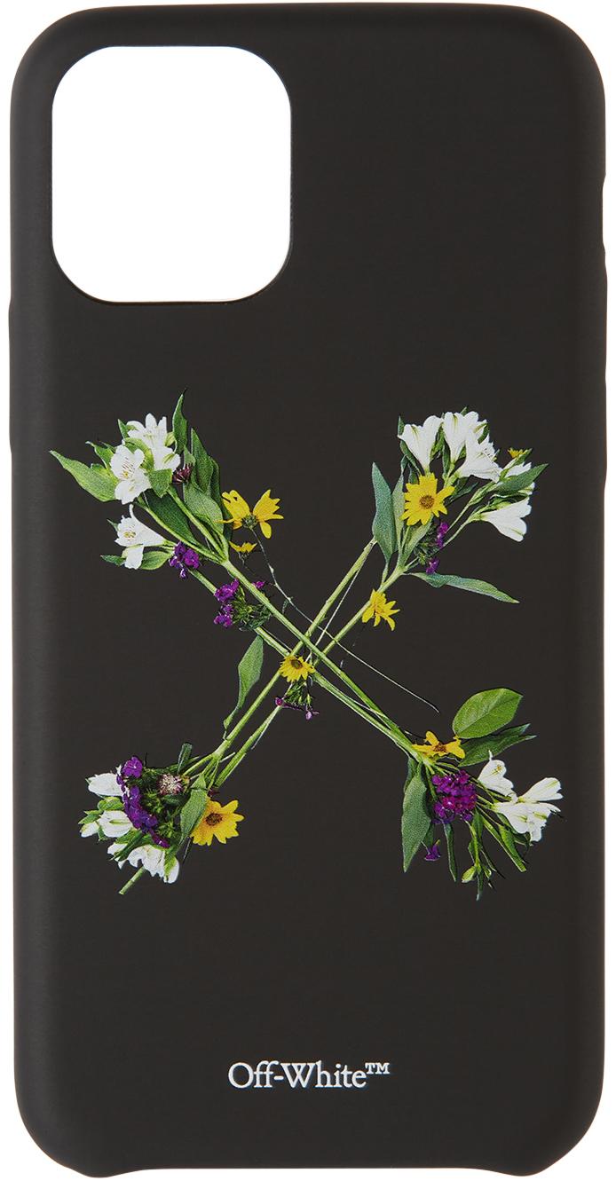 Black Flowers iPhone 11 Pro Case