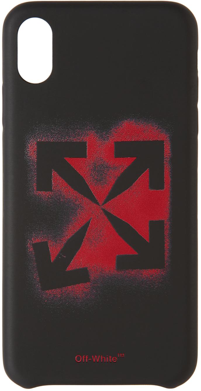 Black Stencil iPhone XS Max Case