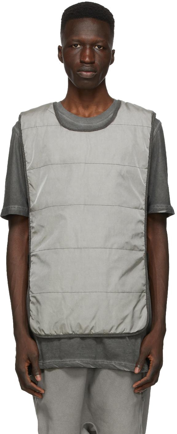 11 by Boris Bidjan Saberi Grey Panelled Vest 202610M185003