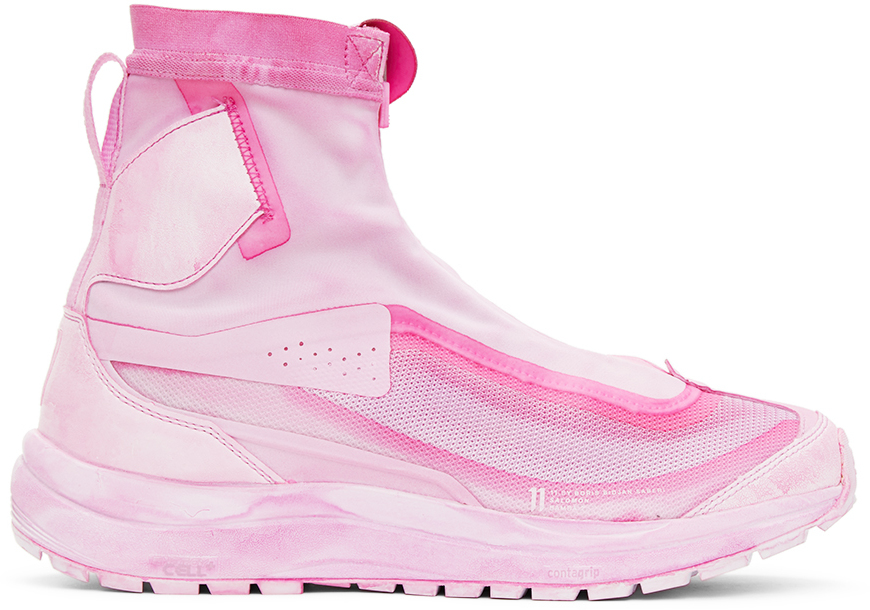 11 by Boris Bidjan Saberi Pink Salomon Edition High Bamba 2 Sneakers 202610M236043